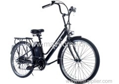 with rattan basket Electric Bike