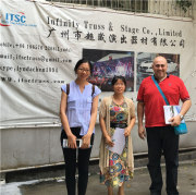Walid Sakr from Doha and his translator Kelly are welcome to visit ITSC truss