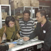 Rasheed from Malaysia and his friend visiting ITSCtruss