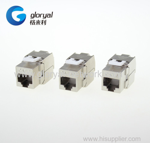 TOOLLESS or tool-free 180 degree STP FTP cat.6 or cat.6a orCat.7 RJ45 keystone jack