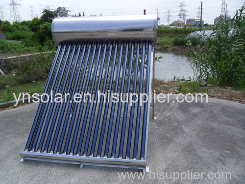 Integrated Non Pressure Stainless Steel Solar Water Heater Geyser