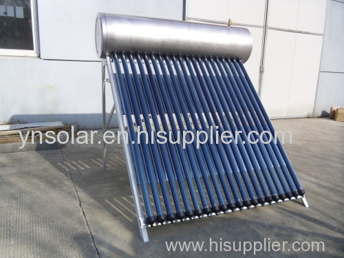 Stainless Steel SUS304 Compact Pressure Heat Pipe Solar Water Heater