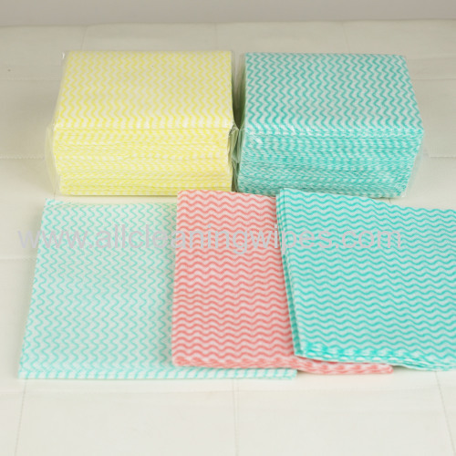 Nonwoven Disposable Kitchen Cleaning Wipes 1/4 folded
