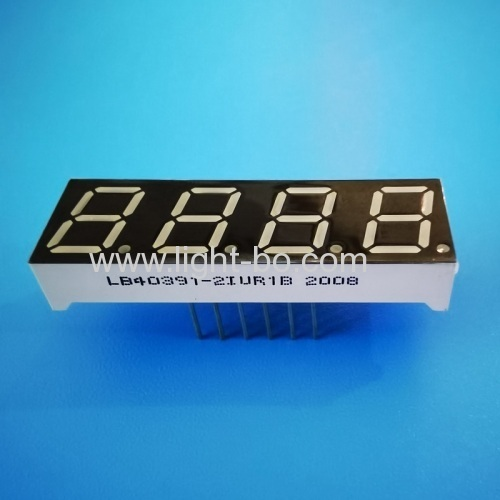 Ultra Red 0.39  4 Digit 7 Segment LED Display Common Anode for temperature controller