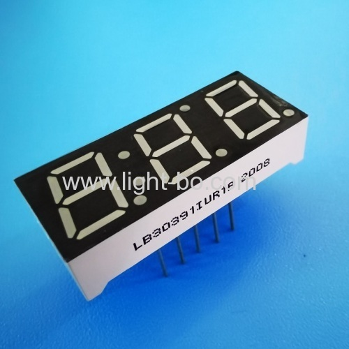 Ultra bright red Triple Digit 0.39 Common Anode 7 Segment LED Display for Temperature indicator