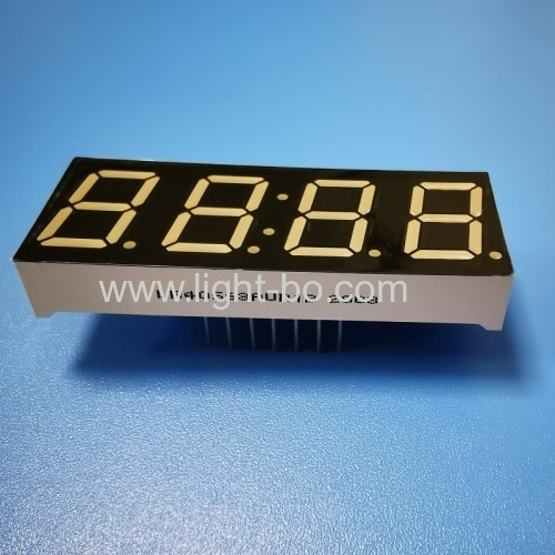 Ultra Red 7 Segment LED Clock Display 4 Digit 0.56  Common Anode For Home Appliances