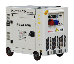 single cylinder diesel engine 7.5KW silent generator