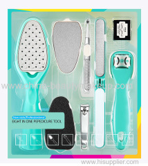 Pedicure tools pedicure kit pedicure set eight in one pedicure tool foot care tools foot file pedicure file