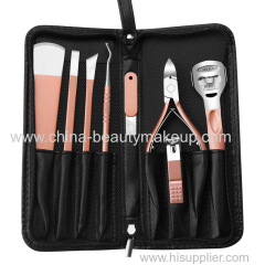 Pink pedicure kit Pedicure set pedicure knife manicure kit stainless steel nail clippers cuticle nippers pedicure tools