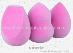 High quality micro fiber spong exclusive patent no-latex powder puff makeup songe non-latex makeup songe soft&flexible