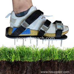 Lawn Aerator Shoes Spiked Aerating Lawn Sandals with 26 Spikes and Adjustable Cam Buckle Straps