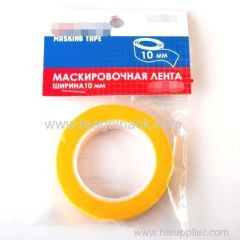 10mmx18M Washi Tape Plastic Core Yellow (Masking Tape)