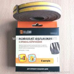E-Profile Self-Adhesive Rubber Foam Seal Strip 6M(3mx2rolls)L Brown. EPDM-Profile Available.