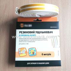 D-Profile Self-Adhesive Rubber Seal Strip 6M(3mx2rolls)L White.