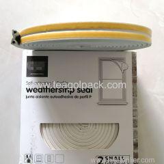 P-Profile Self-Adhesive Weatherstrip Seal 10M(5Mx2rolls)L White.