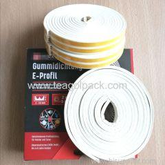 E-Profile Self-Adhesive Rubber Seal Strip 10M(5mx2rolls)L White. EPDM-Profile.
