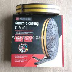 E-Profile Self-Adhesive Rubber Seal Strip 10M(5mx2rolls)L Brown. EPDM-Profile .