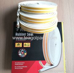 P-Profile Self-Adhesive Rubber Seal Strip 10M(5mx2rolls)L White. EPDM-Profile.