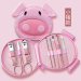 Cute cartoon design manicure kit pink beauty tools set cartoon nail clippers set travel sets home daily tools