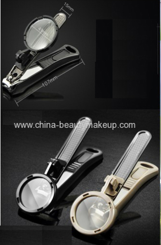 High quality nail clipper with magnifier manicure tools pedicure tools elders gifts home daily supplies