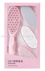Professional quality glass foot files Pedicure file 4 in 1 foot care tools foot brushes