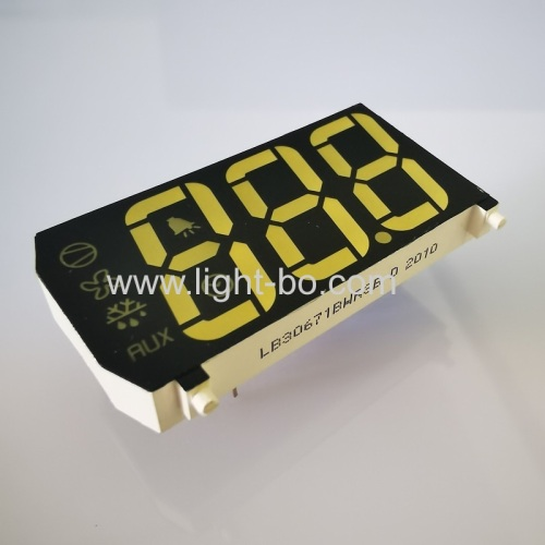 Customized white / yellow Triple Digit LED Display for refrigerator control panel