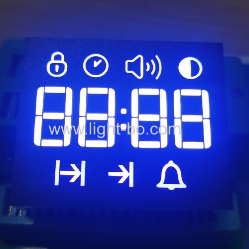 Customized Ultra white 4 Digit 7 Segment LED Display Common Anode for oven timer