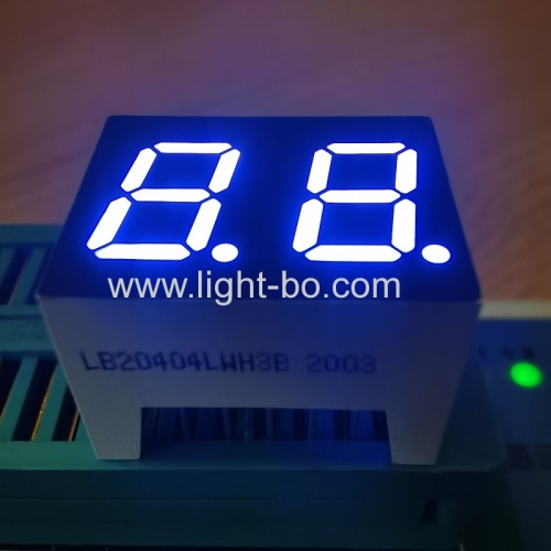 Ultra bright bluish white 0.4inch Dual Digit 7 segment LED Display common cathode for home appliances