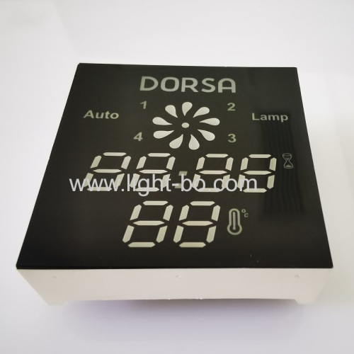 Low cost Customized Ultra blue 7 Segment LED Display Module for Kitchen Hood