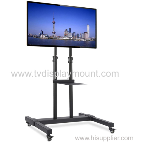 Competitive 600*400 Moveable TV Cart Stand with Wheels Standing