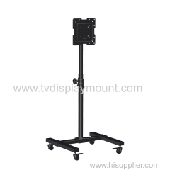 Competitive 200X200 Moveable TV Cart Stand with Wheels Standing