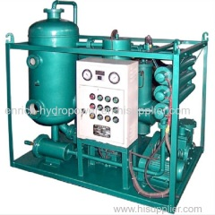 TY Vacuum Filtration Dehydration Steam Gas Turbine Lube Lubricating Oil Regeneration Recycling Filter Purifier Machine
