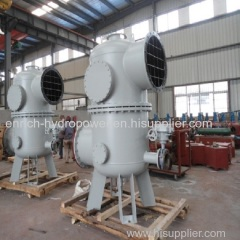 Snya Type Double Basket Water Filter Strainer Purifier Purification for technical water supply for hydropower plant