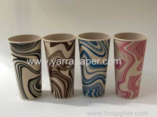 16/22oz Single wall Cold paper cup/TREE FREE paper cup