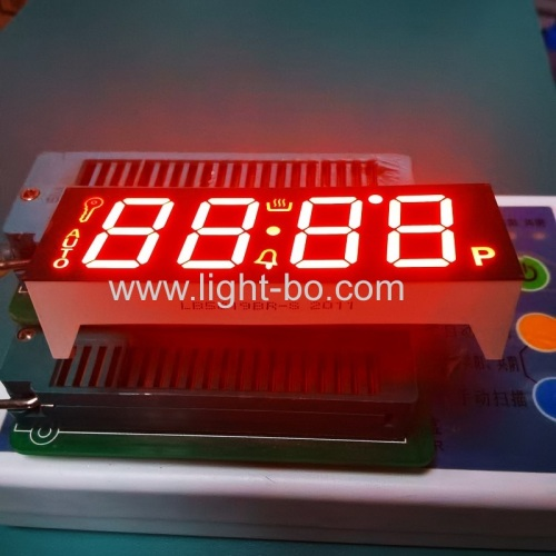 Ultra Red 4 Digit 7 Segment LED Display Common Anode for oven timer controller