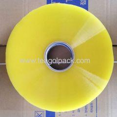Transparent Yellow 45micX144mmX1035M Jumbo BOPP Packing Tape