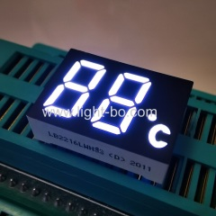 2 digit led display; white 7 segment; temperature indicator;custom led display