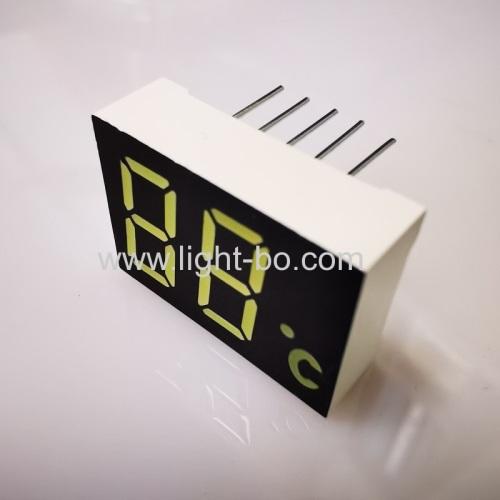Custom Ultra white dual digit 0.47  7 segment led display common cathode for temperature indicator