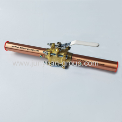 Chemical Gas Oxygen Ball Valve with Copper Tube