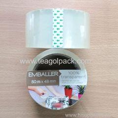 48mmx50M Packing Tape Transparent Adhesive Tape