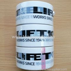 50mmx60M Packing Tape White with Customized Black Printing