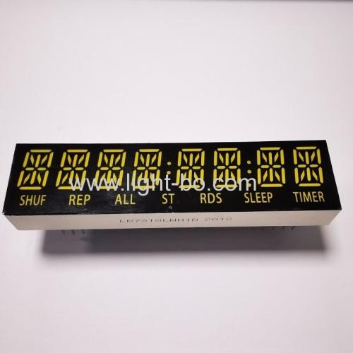 Customized ultra white 8 Digit 14 Segment Alphanumeric LED Display common cathode for speaker/audio