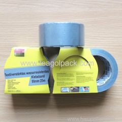 50mmx25M Cloth Duct Tape Silver Color