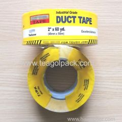48mmx55M Yellow Industrial Grade Duct Tape with Printed film 2