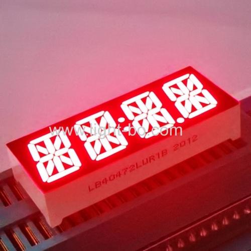 сверхяркий красный 0,47-дюймовый 4-разрядный 14-сегментный светодиодный дисплей часов, общий катод для приборной панели