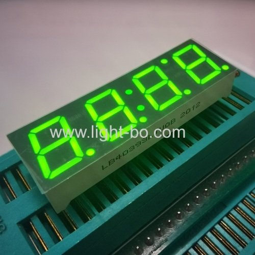 Ultra bright green 0.39inch 4 digit 7 segment led display common cathode for home appliances