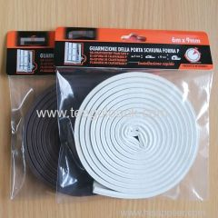 P Section Draught Excluder 6M / P-Profile Self-Adhesive Rubber Foam Seal Strip 6M(3mx2rolls). EPDM-Profile.