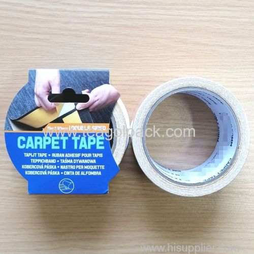 50mmx10M Double Sided Adhesive Brown Carpet Tape