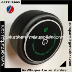Air Whisper UV sterilizer focusing on disinfectiong viruses and bacteria in car