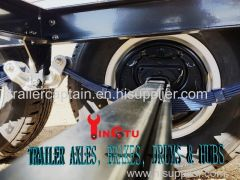 Trailer parts axles brakes drums and hubs